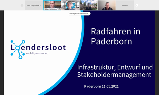 A screenshot of the Paderborn webinar